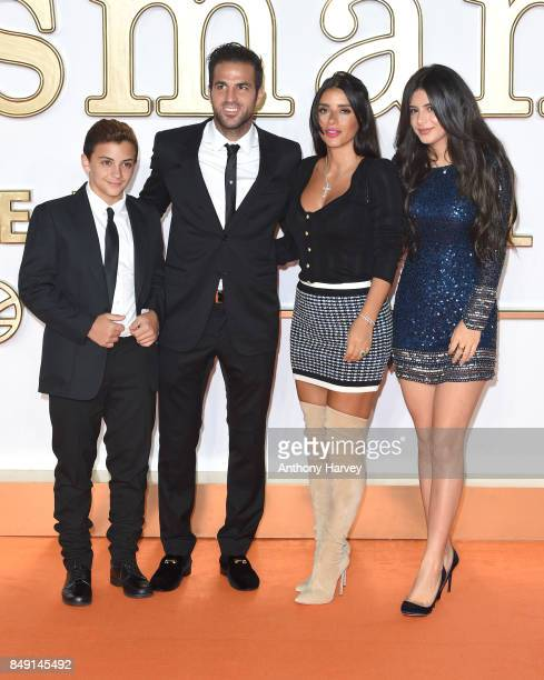 Cesc Fabregas and Daniella Semaan attend the 'Kingsman: The Golden Circle' World Premiere held at Odeon Leicester Square on September 18, 2017 in...