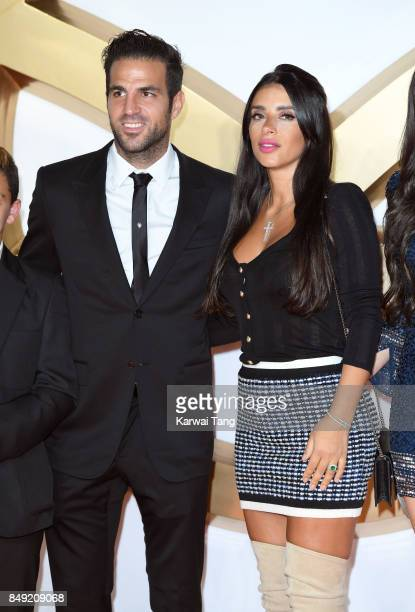 Cesc Fabregas and Daniella Semaan attend the 'Kingsman The Golden Circle' World Premiere at Odeon Leicester Square on September 18 2017 in London...