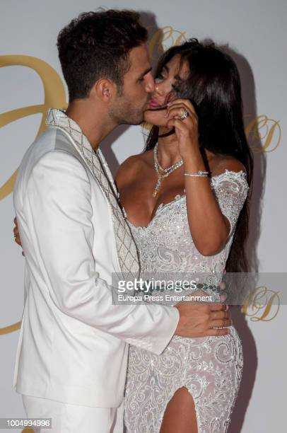 Cesc Fabregas and Daniella Semaan attend their wedding party on July 24 2018 in Ibiza Spain
