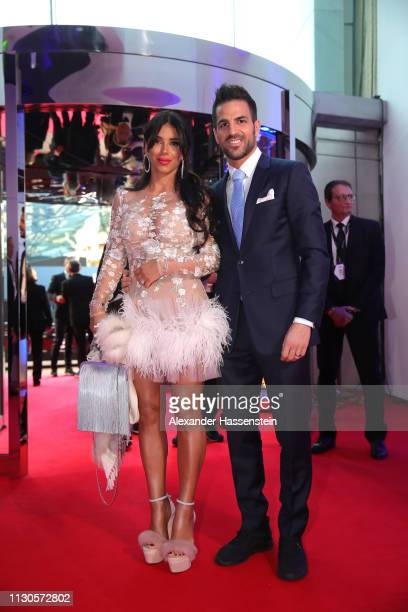 Cesc Fabregas and guest arrive during the 2019 Laureus World Sports Awards on February 18 2019 in Monaco Monaco
