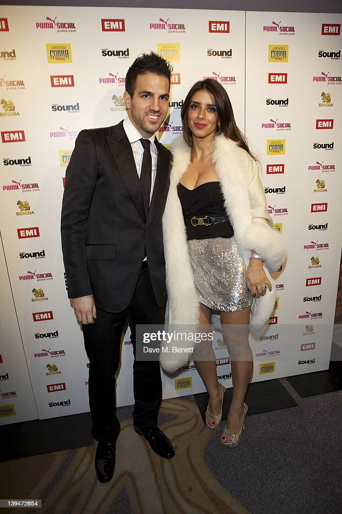 Cesc Fabregas and guest attend The EMI Puma Cobra post BRIT awards party at the O2 on February 21, 2012 in London, England.