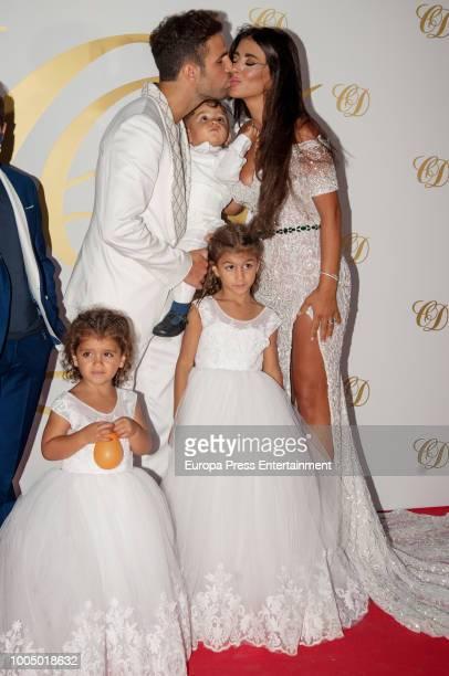 Cesc Fabregas Daniella Semaan and kids Capri Fabregas Lia Fabregas and son Leonardo Fabregas attend Cesc Fabregas and Daniella Semaan's wedding party...
