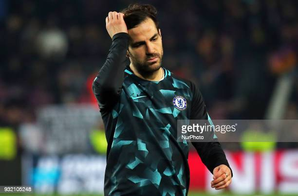 Cesc Fabregas during the match between FC Barcelona and Chelsea FC for the secong leg of the 1/8 final of the UEFa Champions League played at the...