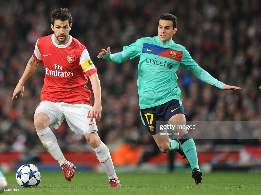 Soccer - UEFA Champions League - Arsenal vs. Barcelona : News Photo
