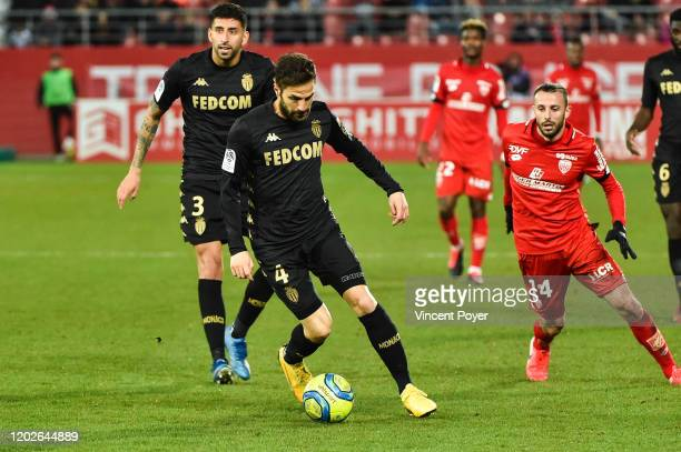 Cesc FABREGAS of AS Monaco and Jordan MARIE of DFCO during the Ligue 1 match between Dijon FCO and AS Monaco at Stade Gaston Gerard on February 22...