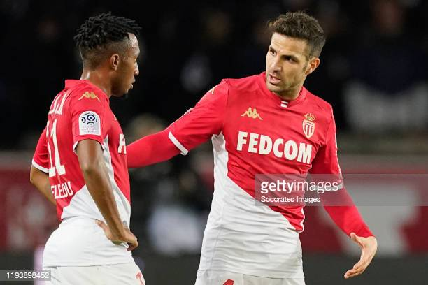 Cesc Fabregas of AS Monaco during the French League 1 match between Paris Saint Germain v AS Monaco at the Parc des Princes on January 12, 2020 in...