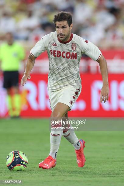 Cesc Fabregas of AS Monaco during the UEFA Champions League Third Qualifying Round 2nd Leg match between Monaco and Sparta Praha at Stade Louis II on...