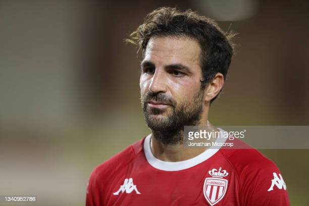 Cesc Fabregas of AS Monaco reacts during the UEFA Europa League group B match between AS Monaco and Sturm Graz at Stade Louis II on September 16,...
