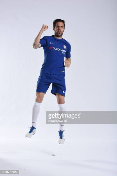 Cesc Fabregas of Chelsea during the New Nike Kit Photoshoot at Chelsea Training Ground on April 19 2017 in Cobham England