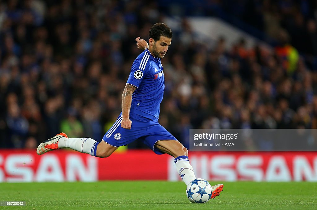 Cesc Fabregas of Chelsea during the UEFA Champions League group G match between Chelsea and Maccabi Tel-Aviv at Stamford Bridge on September 16, 2015 in London, United Kingdom.