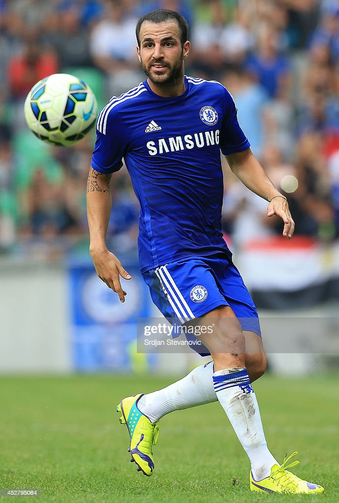Cesc Fabregas of Chelsea in action during the Pre Season Friendly match between FC Olimpija Ljubljana and Chelsea at Stozice stadium in Ljubljana, Slovenia on Sunday, July 27, 2014.