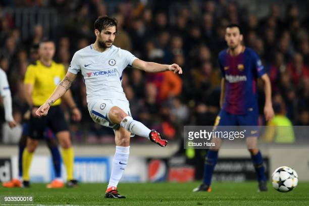Cesc Fabregas of Chelsea in action during the UEFA Champions League Round of 16 Second Leg match FC Barcelona and Chelsea FC at Camp Nou on March 14...