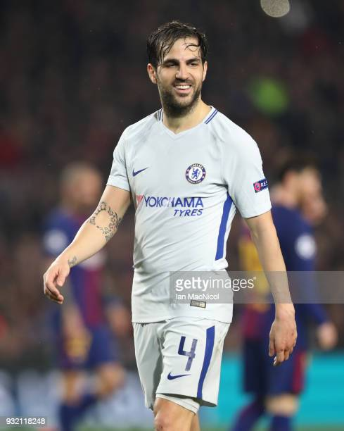 Cesc Fabregas of Chelsea is seen during the UEFA Champions League Round of 16 Second Leg match FC Barcelona and Chelsea FC at Camp Nou on March 14...