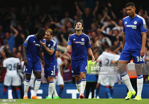 Cesc Fabregas of Chelsea looks dejected after Joel Ward of Crystal Palace scored Crystal Palace's 2nd goal during the Barclays Premier League match...