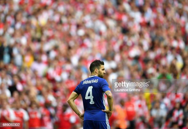 Cesc Fabregas of Chelsea looks dejected during The Emirates FA Cup Final between Arsenal and Chelsea at Wembley Stadium on May 27 2017 in London...