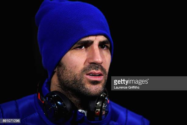 Cesc Fabregas of Chelsea prior to the Premier League match between Huddersfield Town and Chelsea at John Smith's Stadium on December 12 2017 in...