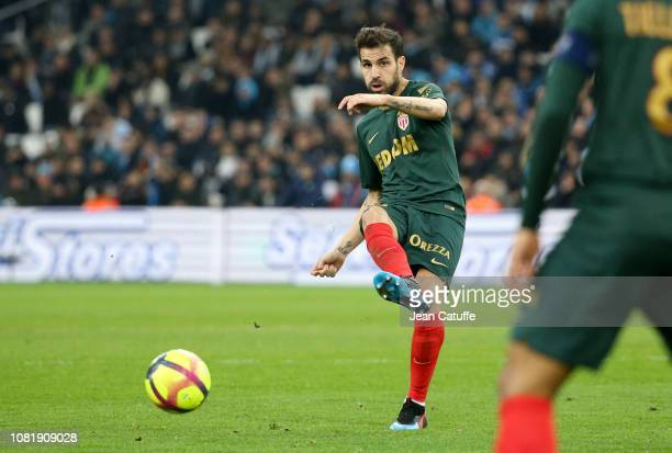Cesc Fabregas of Monaco during the French Ligue 1 match between Olympique de Marseille and AS Monaco at Stade Velodrome on January 13 2019 in...
