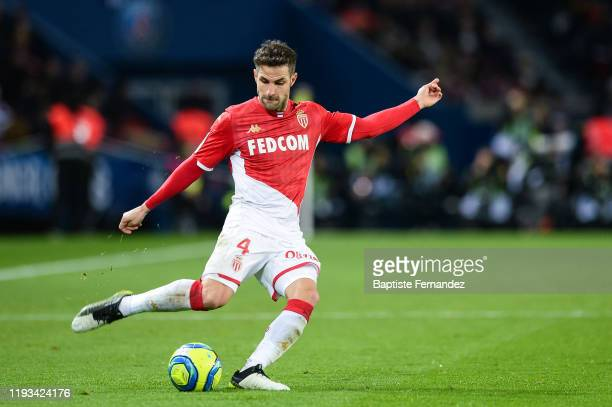 Cesc FABREGAS of Monaco during the French Ligue 1 Soccer match between Paris Saint-Germain and AS Monaco at Parc des Princes on January 12, 2020 in...