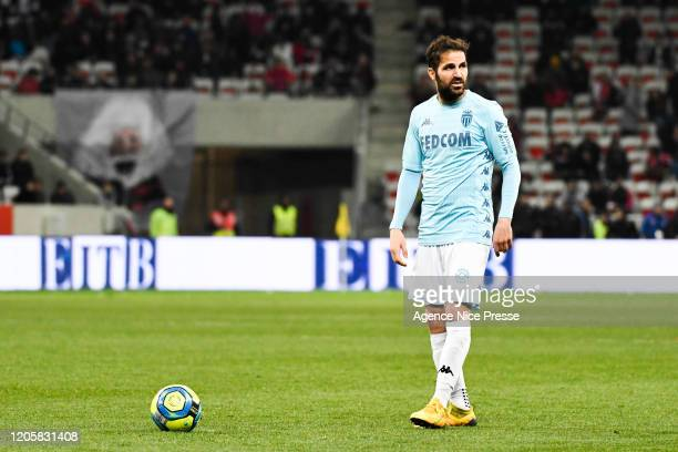 Cesc FABREGAS of Monaco during the Ligue 1 match between Nice and Monaco at Allianz Riviera on March 7, 2020 in Nice, France.