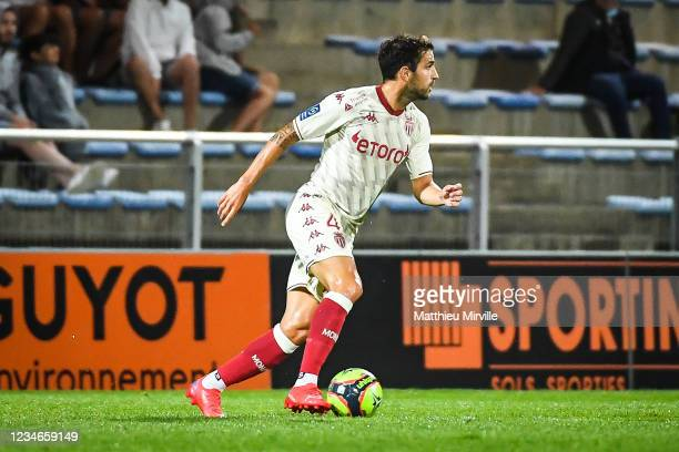 Cesc FABREGAS of Monaco durnig the Ligue 1 Uber Eats match between Lorient and Monaco at Stade du Moustoir on August 13, 2021 in Lorient, France.