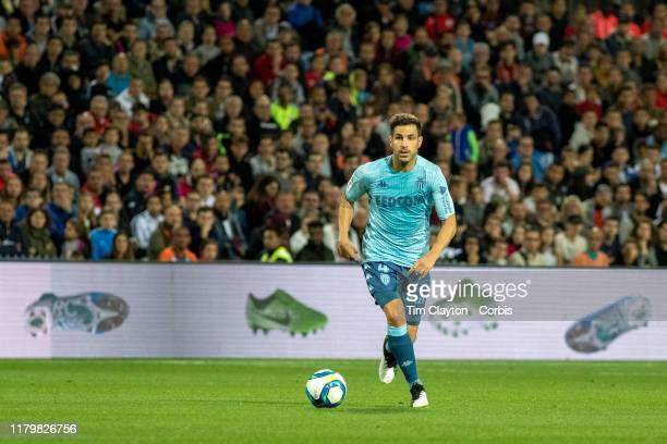 October 5: Cesc Fabregas of Monaco in action during the Montpellier V Monaco, French Ligue 1 regular season match at Stade de la Mosson on October...