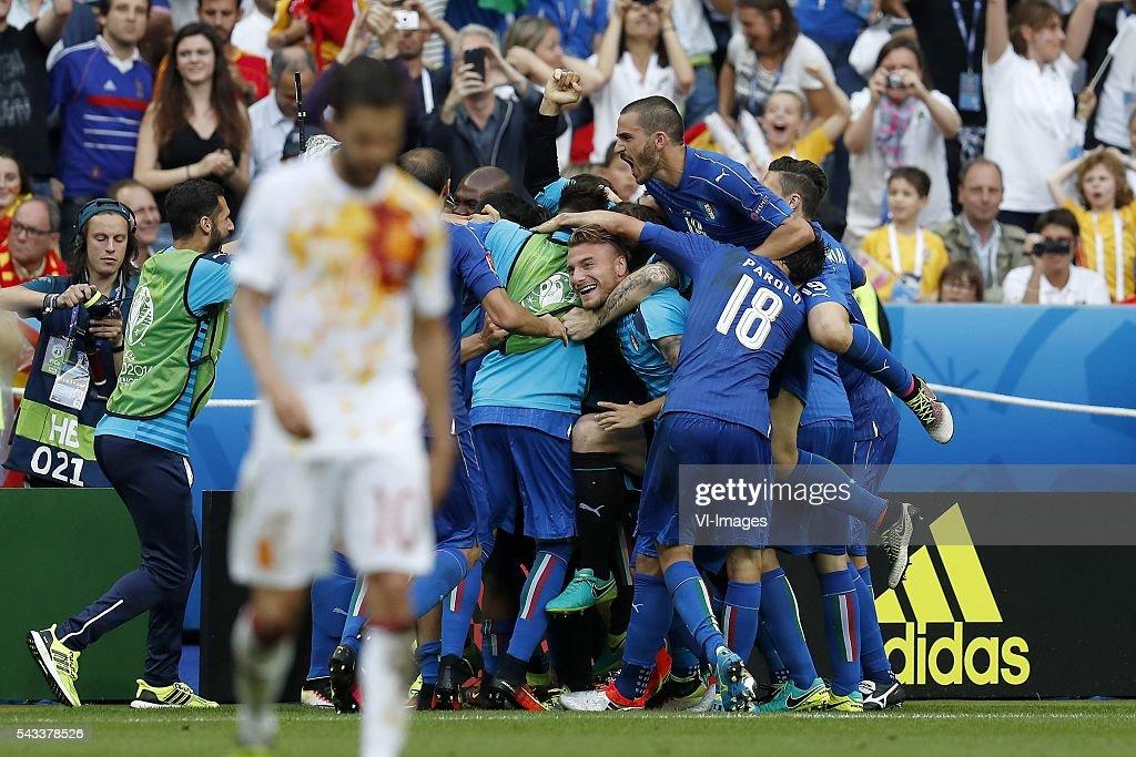 "UEFA Euro 2016 round of 16 - ""Italy v Spain"" : News Photo"