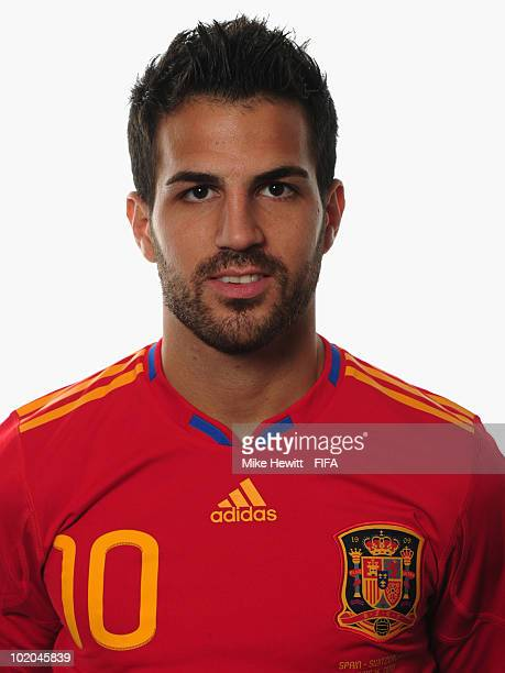 Cesc Fabregas of Spain poses during the official Fifa World Cup 2010 portrait session on June 13 2010 in Potchefstroom South Africa