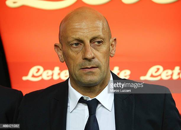 Cesena coach Domenico Di Carlo looks on before the Serie A match between FC Internazionale Milano and AC Cesena at Stadio Giuseppe Meazza on March 15...
