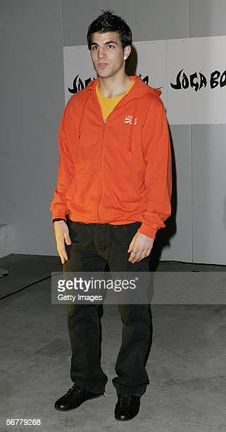 Ceses Fabregas arrives at the launch of Nike's 'Joga Bonito' at the Truman Brewery on February 7 2006 in London England Wayne Rooney Rio Ferdinand...