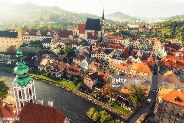 cesky krumlov at sunrise - bohemia czech republic stock pictures, royalty-free photos & images