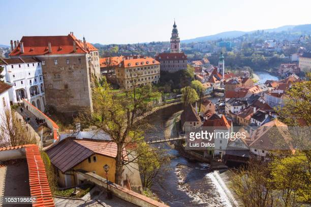 cesky krumlov castle and old town - dafos stock photos and pictures