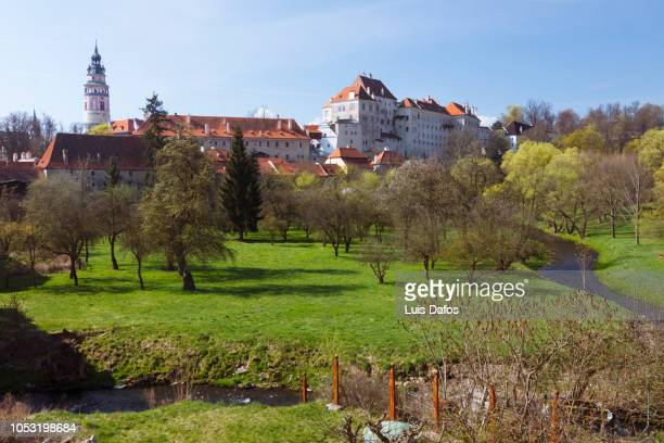 cesky krumlov castle - dafos stock photos and pictures