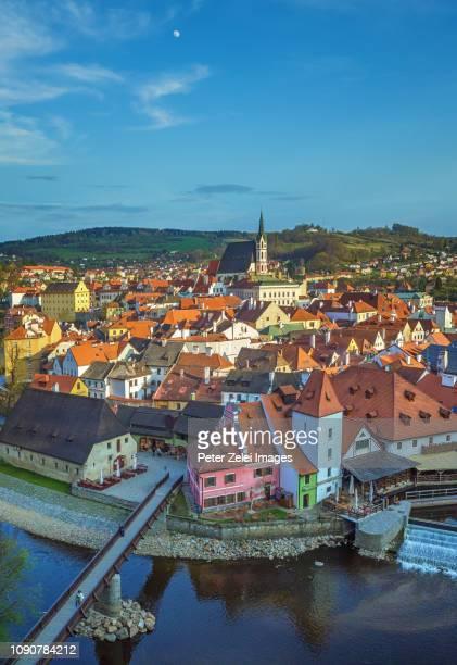 cesky krumlov cityscape, czech republic - czech republic stock pictures, royalty-free photos & images
