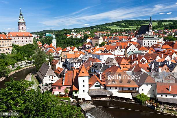 cesky krumlov - cesky krumlov castle stock photos and pictures