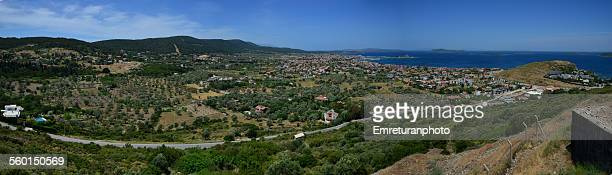 cesmelti & guvendik panoramiv view - emreturanphoto stock pictures, royalty-free photos & images