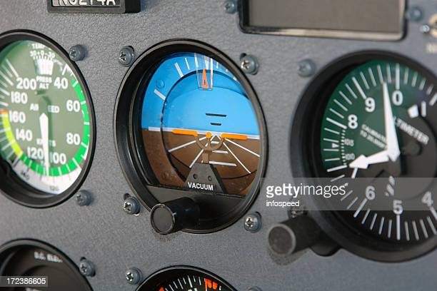 Cessna Cockpit Interior of an Airplane