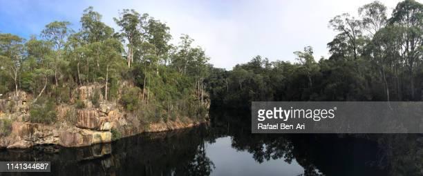cethana dam and power station tasmania australia - rafael ben ari 個照片及圖片檔