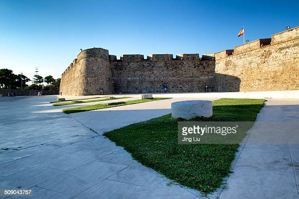 Ceuta is dominated by Monte Anyera , a hill along its western frontier with Morocco. The mountain is guarded by a Spanish fort.