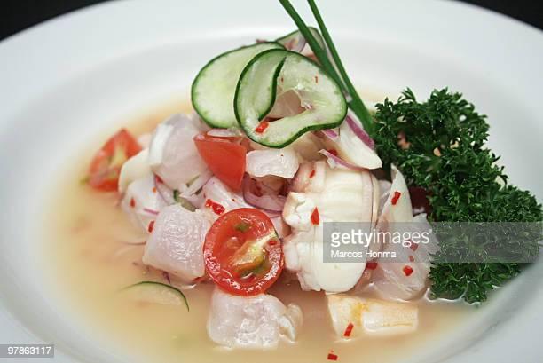ceviche - andian food - ceviche fotografías e imágenes de stock