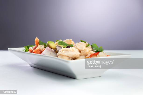 ceviche seafood - ceviche fotografías e imágenes de stock