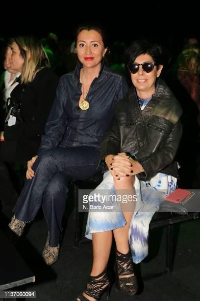 Ceyda Balaban and Banu Bolen attend the MercedesBenz Fashion Week Istanbul March 2019 at Zorlu Center on March 20 2019 in Istanbul Turkey