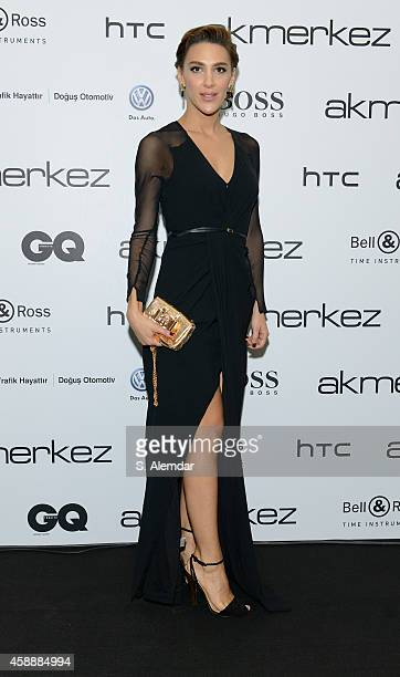 Ceylan Atinc attends the GQ Turkey Men of the Year awards at Four Season Bosphorus Hotel on November 12 2014 in Istanbul Turkey
