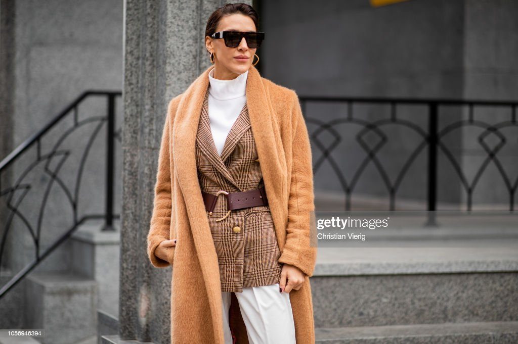 Street Style - Mercedes-Benz Tbilisi Fashion Week - November 3, 2018 : Photo d'actualité