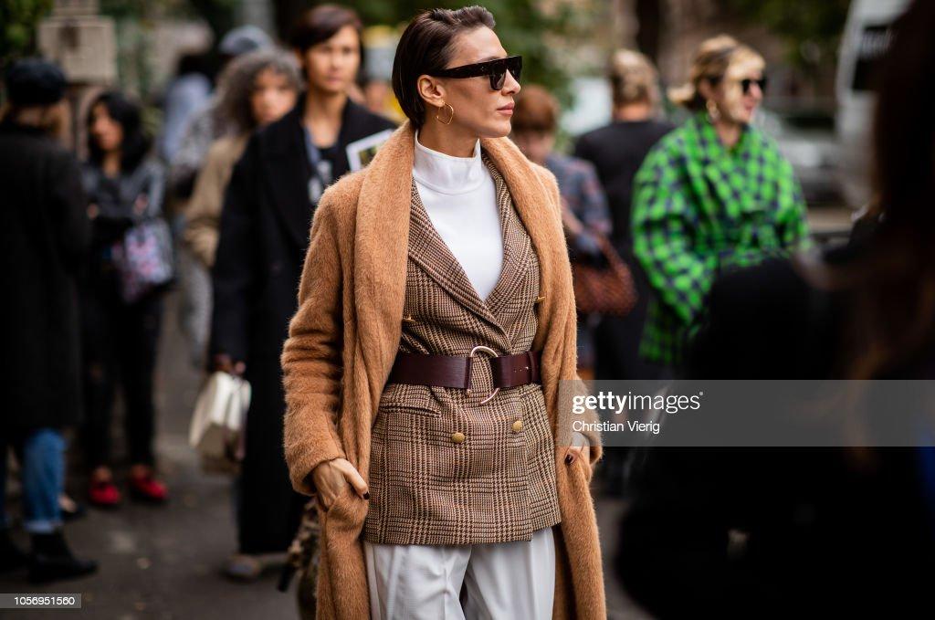 Street Style - Mercedes-Benz Tbilisi Fashion Week - November 3, 2018 : News Photo