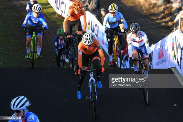 Ceylin Del Carmen Alvarado of The Netherlands and Team The Netherlands / Anna Kay of Great Britain and Team Great Britain / during the 70th...