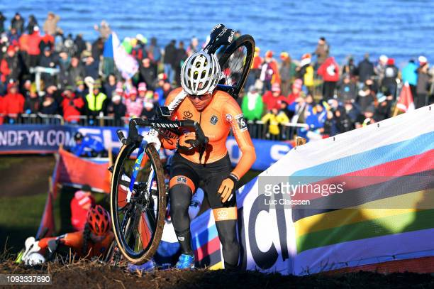 Ceylin Del Carmen Alvarado of The Netherlands and Team The Netherlands / during the 70th Cyclo-cross World Championships Bogense 2019, Women Under 23...