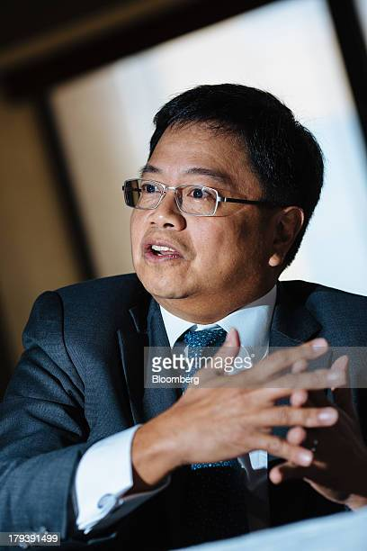 Cezar Peralta Consing president and chief executive officer of Bank of the Philippine Islands speaks during an interview in Manila the Philippines on...