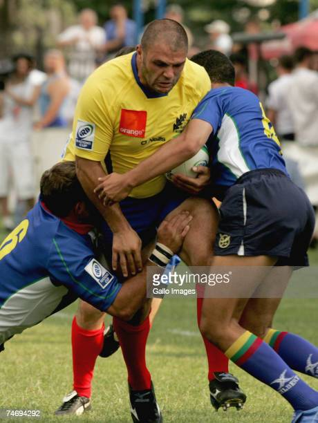 Cezar Popescu of Romania in action during the IRB Nations Cup match between Romania and Namibia held at the Tineretului Stadium June 16 2007 in...