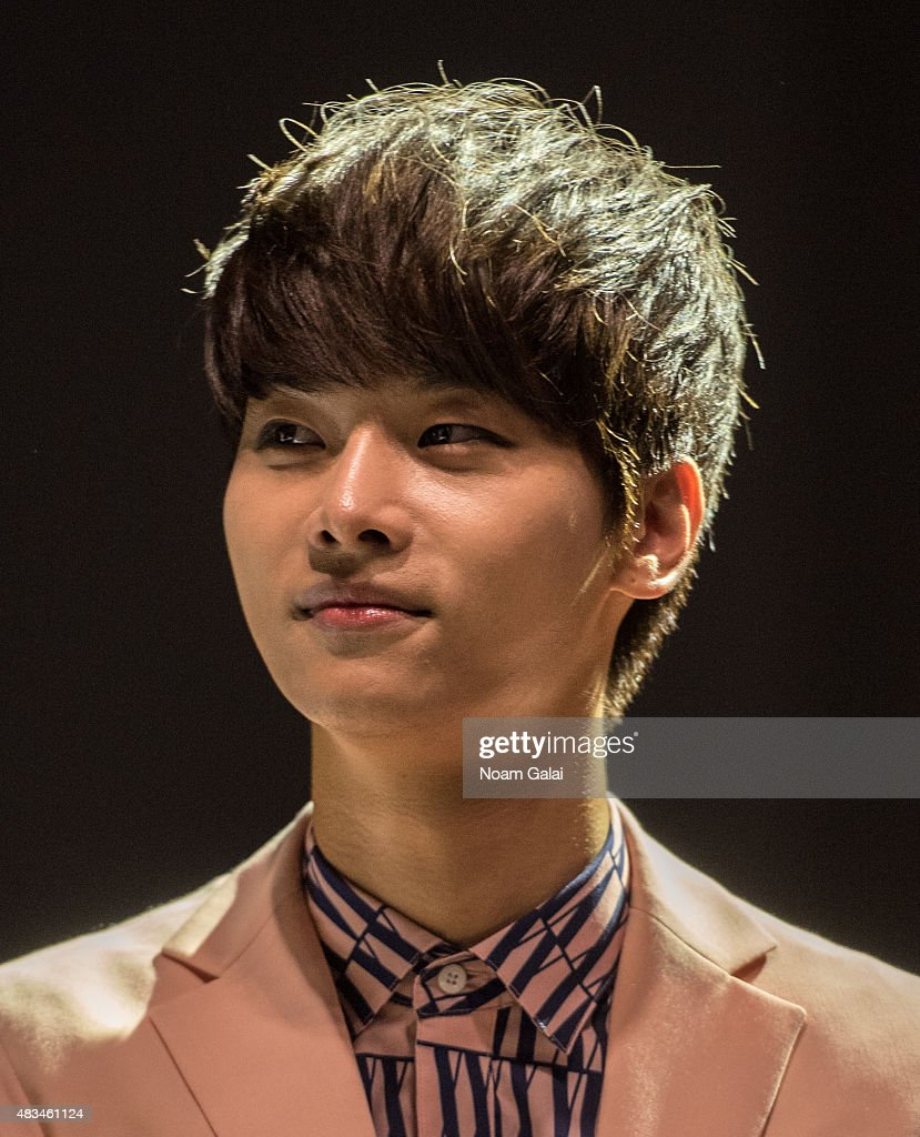 Cha Hak-yeon of the band VIXX attends the 2015 K-Pop Festival at Prudential Center on August 8, 2015 in Newark, New Jersey.