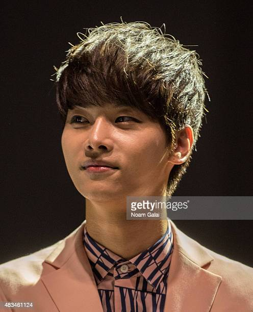 Cha Hakyeon of the band VIXX attends the 2015 KPop Festival at Prudential Center on August 8 2015 in Newark New Jersey